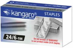 Zilveren Nieten Kangaro 24/6 - doos 1000 stuks