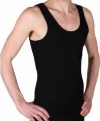 Set van 4x stuks beeren heren hemd/singlet zwart 100% katoen - Herenondergoed hemden, maat: 2XL