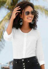 Witte Buffalo Comfortabele blouse, met knoopsluiting
