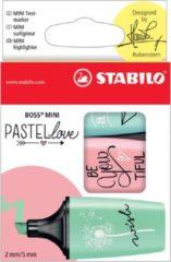 Nikon Markeerstift Stabilo Boss Mini PastelLove, doosje met 3 stuks in geassorteerde pastelkleuren