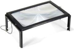 Zwarte Ben Tools Leesloep / leesloupe A4 met LED en 3x vergroting - loep / loupe