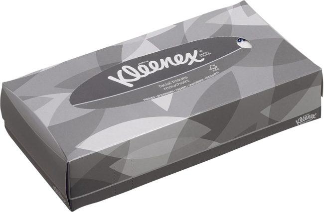 Afbeelding van Kleenex papieren zakdoeken, 2-laags, 100 vellen