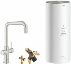 Grohe Red 3-in-1 kokendwaterkraan U-uitloop & 7 liter combi-boiler, energielabel A, kinderbeveiliging, SuperSteel