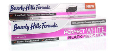 Afbeelding van Beverly Hills Formula Tandpasta Perfect White Black Sensitive