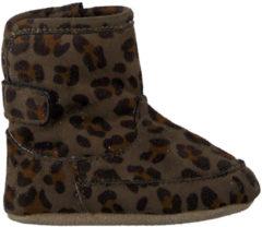 Shoesme babylaars-slofje met groene luipaardprint (BS9A002-E). Maat 19