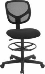 Grijze Songmics Bureaustoel - Draaistoel Met Verstelbare Voetring - Verstelbare Werkkruk