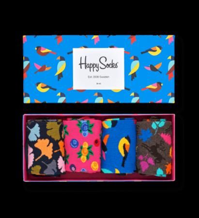 Afbeelding van Blauwe Happy Socks - Gift Box 4-pack Sokken, Forest, Maat 41/46