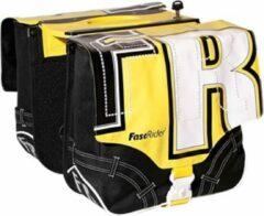 FastRider Flqc Youngbag - Dubbele Fietstas - Zwart/ Geel