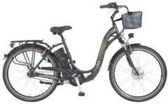 Elektrofahrrad 'Alu City Comfort PLUS' mit 7 Gängen und Korb Prophete graphitgrau
