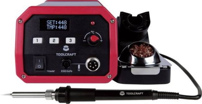 Afbeelding van TOOLCRAFT ST-50D Soldeerstation Digitaal 50 W 150 tot 450 °C Incl. soldeerpunt