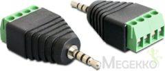 Zwarte Oks Delock - Adapter Klinke Stecker 2,5 mm - Terminalblock 4 Pin
