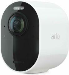 Eve Audio Arlo Ultra 2 Spotlight Camera   Draadloos, 4K-video en HDR   Nachtzicht in kleur, tweewegaudio, batterijlevensduur van 6 maanden, door beweging geactiveerd, 180° zicht   Werkt met Alexa   Werkt met Google   Wit