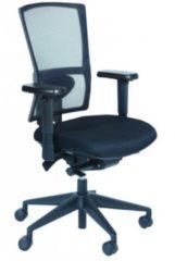 Schaffenburg bureaustoel serie NPR 400, zitting zwart stof, Rug mesh/wol zwart-wit gemeleerd, zitting stof zwart, voetkruis zwart