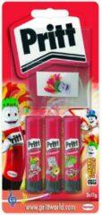 Originele Pritt lijmstift SMALL 11 gram Blister van 3 stuks