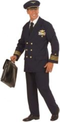 Marineblauwe Fun & Feest Party Gadgets Piloot kostuum voor heren/mannen 48 (s)