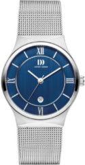Zilveren Danish Design watches edelstalen dameshorloge Kalsoy Blue Small IV68Q1240