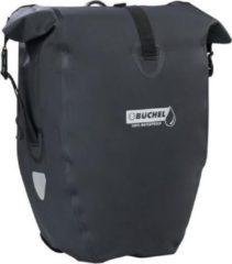 Büchel Luxe Pakaftas / Enkele fietstas - 100% Waterdicht - Met Schouderband - Luxe Pakaf-Systeem - 25,4 Liter - Zwart