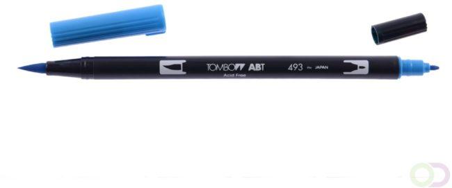 Afbeelding van Blauwe Tombow ABT dubbele brushpen reflex blue ABT-493