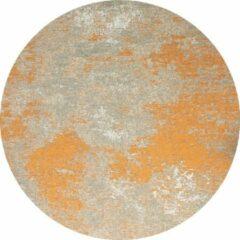 Oranje Flooo Rond Vintage vloerkleed - Grunge - Tapijten Woonkamer - Monarch - 110 ø