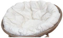 Kissenauflage Papasan Möbel-Direkt-Online cremefarben, Durchmesser 100 cm