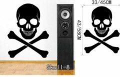 DCCD 3D Sticker Decoratie Mexicaanse Suiker Schedel Kantoor Stickers Dia De Los Muertos Vinyl Muursticker Sticker Adesivo De Parede Home Decor Muurschildering - Skull8 / Small