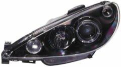 Universeel Set Koplampen Peugeot 206 1998-2002 excl. GTi - Zwart - incl. Angel-Eyes