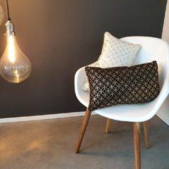 Viva Kussen – Sierkussen – Kussens Woonkamer – Luxe Kussen – 50x30 cm – Wit – Goud