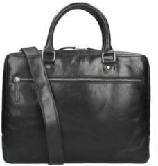 Leonhard Heyden 11 inch Cambridge 1 Compartment Briefcase S zwart