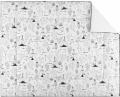 Bink Bedding Indiana Boxkleed Zwart / Wit 80 x 100 cm