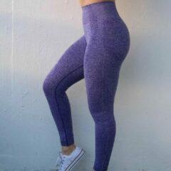 LOUZIR Fitness/Yoga legging - Fitness legging - sport legging Stretch - squat proof - Lila kleur - Maat L