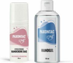 Paxontac Handgel + Handcrème dag: met natuurlijke ingrediënten en 30% meer hydratatie door toegevoegde AQUAXYL™ formule
