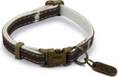 Designed by Lotte nylon kattenhalsband Virante. Bruin. 20-30 cm x 10 mm.