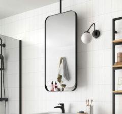 Muebles Twist roterende spiegel 50x100cm zwart