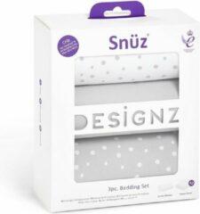 Grijze Snuz Beddengoedset voor co-sleeper - 45x90cm - Grey Spot