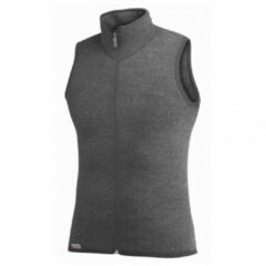Grijze Woolpower - Vest 400 - Merino bodywarmers maat XXL zwart/grijs