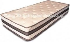Blauwe Probedding Platina Pocketvering matras 3D-tech.