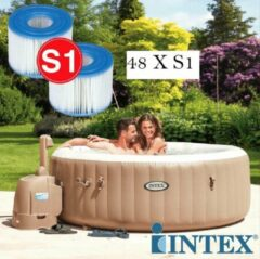 Witte INTEX AQUASERV 48 Intex S-1 Pure Spa Filter opblaas bubbelbad jacuzzi