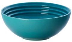 Blauwe LE CREUSET - Aardewerk - Dessertschaaltje 16cm Deep Teal