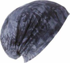 AOP Chemomuts bij haarverlies beanie blauw batik print maat 56 57 58 cm
