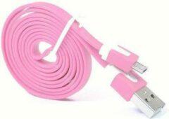 Qatrixx Micro USB Kabel Datacable 1 meter Universeel Pink Roze