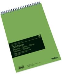 Witte Schoellershammer Reflex studioline tekenpapier, 160gr, A3 spiraalblok, 50 vel