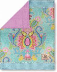 Roze Plaid 150x200 polyester Happiness nr.8054 aqua Maat: 150x200cm