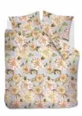 Naturelkleurige Beddinghouse Linen Flower - Dekbedovertrek - Tweepersoons - 200x200/220 cm + 2 kussenslopen 60x70 cm - Natural