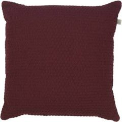 Bordeauxrode Dutch Decor Sierkussen Fixa 45x45 cm bordeaux