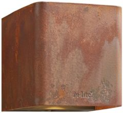 Inlite ACE up- en downlighter Corten 230V In-lite ACE up-down Corten 230V