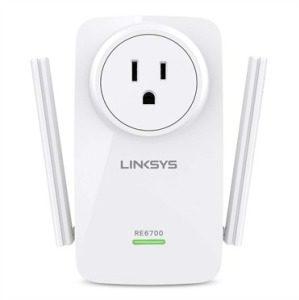Afbeelding van Witte Linksys RE6700 - Wifi Range Extender - BE stopcontact
