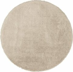 Flooo Rond vloerkleed - Tapijten Woonkamer - Hoogpolig - Mokka - 160 cm