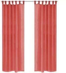 Rode Vidaxl gordijnen voile 140x225 cm rood 2 st