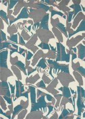 Ted Baker - Laagpolig vloerkleed Ted Baker Cranes Petrol 57008 - 170x240 cm