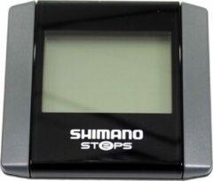 Antraciet-grijze Shimano Fietscomputer Steps Sc-e6000 Di2 9 Functies